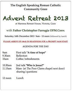 retreatagenda2013advent